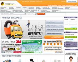 Page d'accueil de Manutan