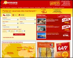 Page d'accueil de Marmara