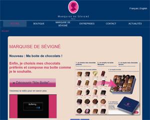Page d'accueil de Marquise de Sévigné