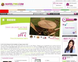 Page d'accueil de Matelpro