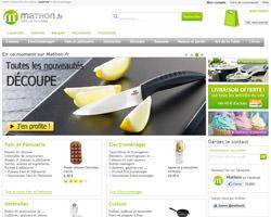 Page d'accueil de Mathon