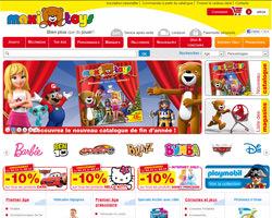 Page d'accueil de Maxitoys