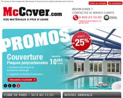 Page d'accueil de McCover
