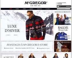 Page d'accueil de McGregor