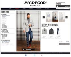 Une fiche produit de McGregor