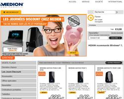 Page d'accueil de Medion