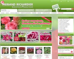 Page d'accueil de Meilland Richardier