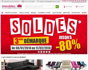 Page d'accueil de Meublez
