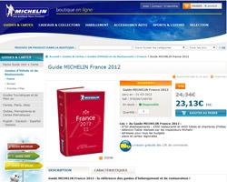 Une fiche produit de Michelin