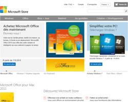 Page d'accueil de Microsoft Store