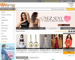 Page d'accueil de Milanoo