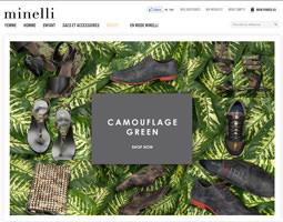 Page d'accueil de Minelli