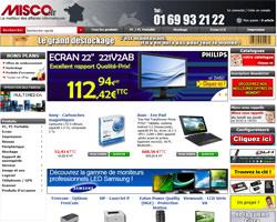 Page d'accueil de Misco