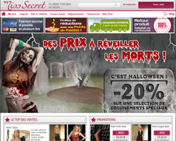 Page d'accueil de Miss Secret