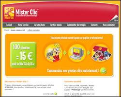 Page d'accueil de MisterClic