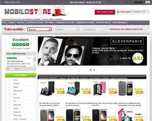 Page d'accueil de Mobilostore