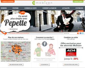 Page d'accueil de Mobizen