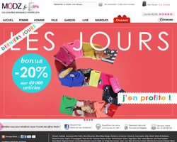 Page d'accueil de Modz