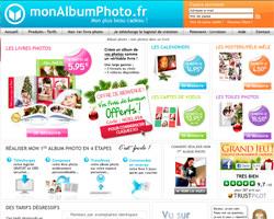 Page d'accueil de MonAlbumPhoto
