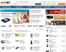 Page d'accueil de Monclick