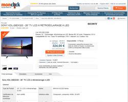 Une fiche produit de Monclick
