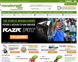Page d'accueil de Monsieur Golf