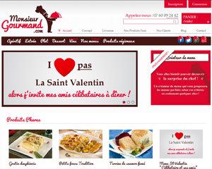 Page d'accueil de Monsieur Gourmand
