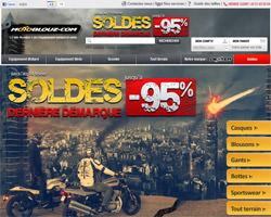 Page d'accueil de Motoblouz