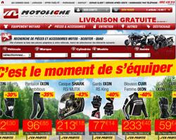 Page d'accueil de Motoligne