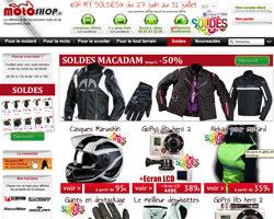 Page d'accueil de MotoShop