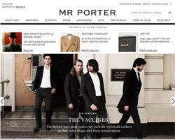Page d'accueil de Mr Porter