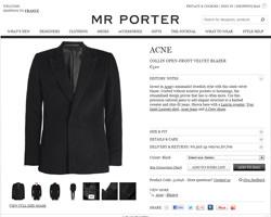 Une fiche produit de Mr Porter