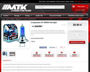 Une fiche produit de MTK Tuning