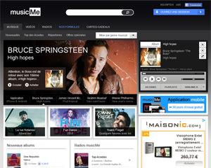 Page d'accueil de musicMe