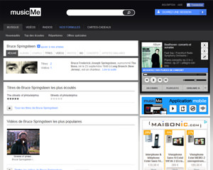 Une fiche produit de musicMe