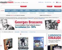 Page d'accueil de Musicroom