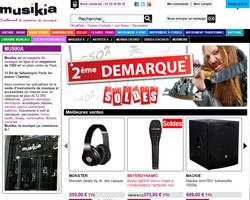 Page d'accueil de Musikia