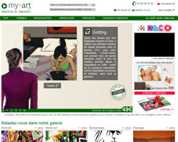 Page d'accueil de My-art
