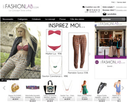 Page d'accueil de My Fashion Lab