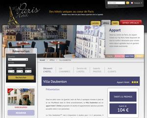 Une fiche produit de My Paris Hotel