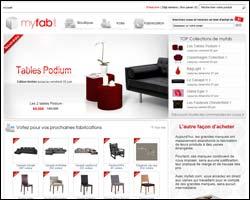 Page d'accueil de Myfab