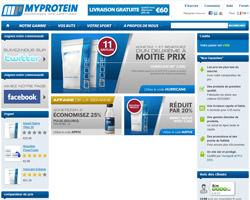 Page d'accueil de Myprotein