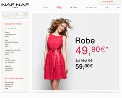 Page d'accueil de Naf Naf