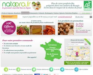 Page d'accueil de Natoora