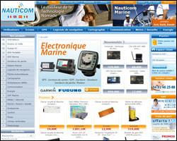 Page d'accueil de Nauticom