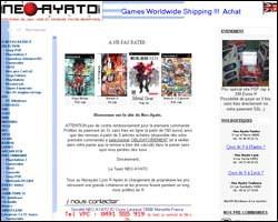 Page d'accueil de Neo Ayato