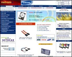 Page d'accueil de Netram