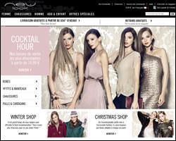 Page d'accueil de New Look