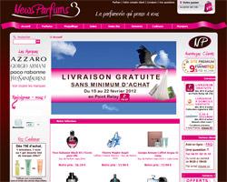 Page d'accueil de News Parfums