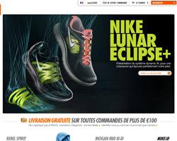 Page d'accueil de Nike